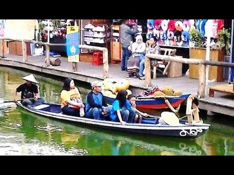 FLOATING MARKET - Pasar Apung Museum Angkut Batu Malang - Wisata Tourism [HD]