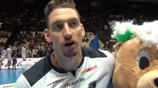 19-01-2017: Emma Villas Siena, Stefano Patriarca e la vittoria in Del Monte Coppa Italia A2