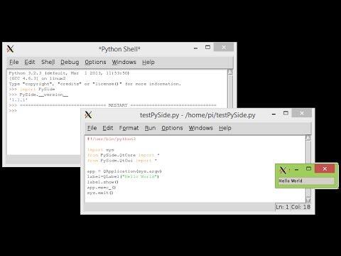 Install PySide for Python 3 on Raspberry Pi