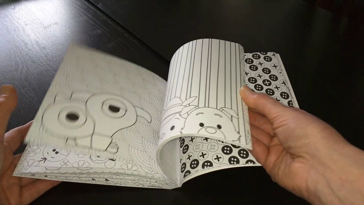 Livre de Coloriage anti stress adulte disney tsum tsum