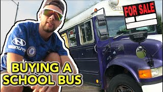 We are BUYING a SCHOOL BUS... (Here's Why)