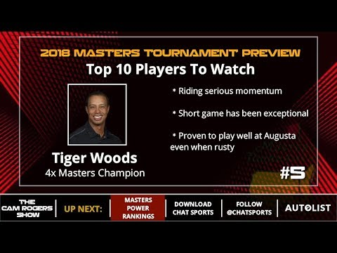 2018 Masters Power Rankings Featuring Tiger Woods, Phil Mickelson, And Jordan Spieth