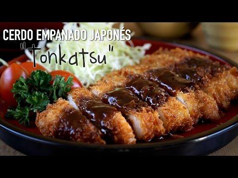 "Cerdo empanado estilo japonés ""Tonkatsu"" - Japanese Pork Cutlet Recipe"