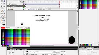 tutorial bola bergelinding dan baling baling macromedia flash 8 part 1