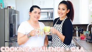 COOKING CHALLENGE WITH MY MOM + Q&A | BEAUTYYBIRD