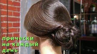 видео Вечерняя укладка на длинные средние и короткие волосы