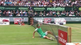 Dimitrov, Kyrgios, Zverev in Best Grass-Court Slips and Falls 2017