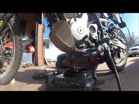 Emptying the Crankcase - of a dry sump motorcycle