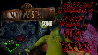 123 SLAUGHTER ME STREET SONG (FOLLOW, GREET, WAIT, REPEAT) LYRIC VIDEO - DAGames