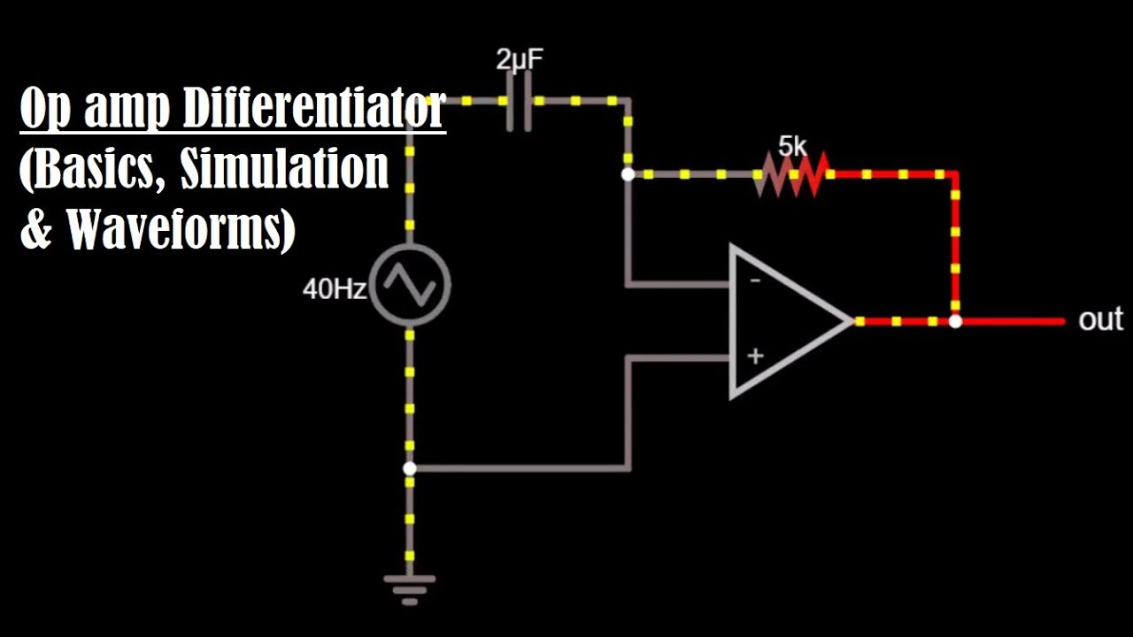 Op amp Differentiator - Differentiator - Differentiator Circuit,  Simulation, Waveform & Formula