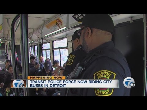 Transit police force now riding city buses in Detroit