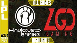 IG vs LGD Highlights ALL GAMES | LPL Spring 2020 W3D4 | Invictus Gaming vs LGD Gaming