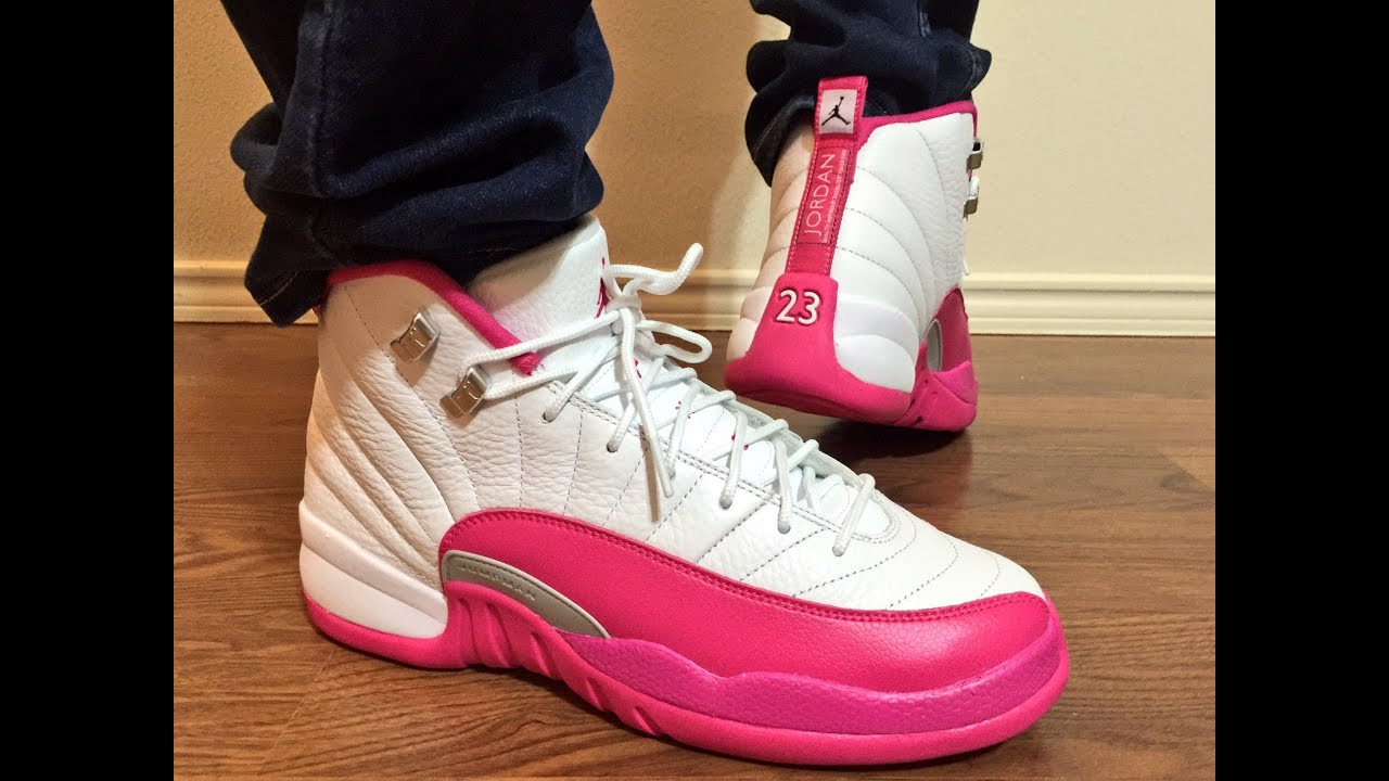 sports shoes acc37 7c6ae Jordan Retro 12 Valentine s Day GS unbox on feet review