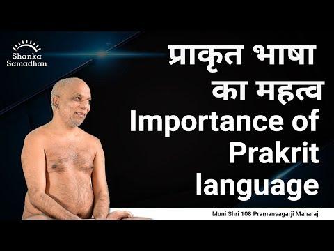 प्राकृत भाषा का महत्व Importance of Prakrit language.
