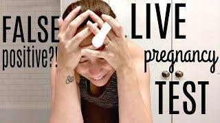 FALSE POSITIVE?! LIVE PREGNANCY TEST 2018!  8 DPO to 10 DPO