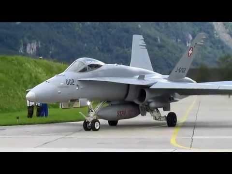 Airshow in Meiringen (Switzerland) 18.06.2016. Fly F-18