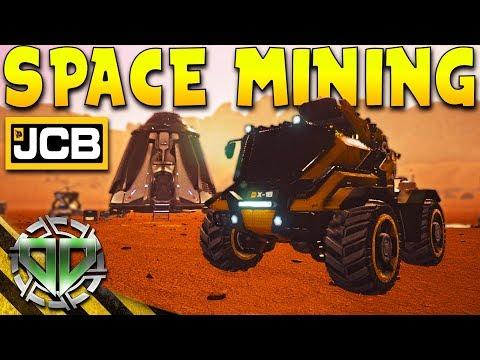 JCB Pioneer Mars Gameplay : Space Mining & Colonizing Mars Using JCB! (PC Let's Play Sandbox)