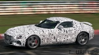 2015 Mercedes-AMG GT spied testing on the Nürburgring!