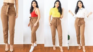 1 Pantalon 5 Outfits Como Combinar Un Pantalon Cafe Bessy Dressy Youtube