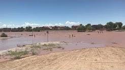 Big Flood in Rancho el Dorado Wash in Maricopa, AZ