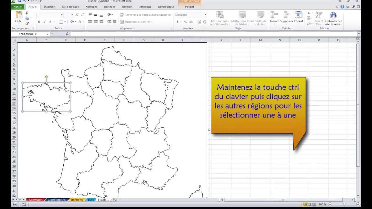 Excel 2010: Comment importer une carte géographique dans Excel