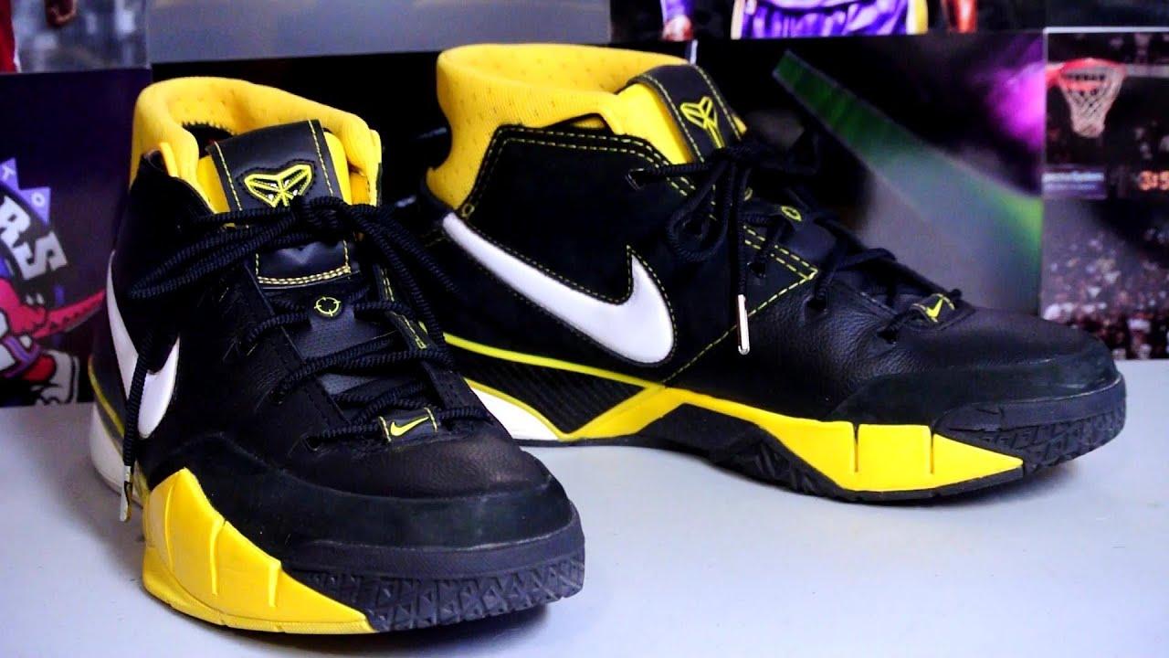 afd2a5526f4 Nike Zoom Kobe I (1) - Black White-Varsity Maize - YouTube