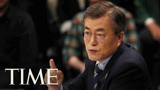 President Of South Korea Talks About Negotiating With North Korea Before G20 In Hamburg | TIME thumbnail