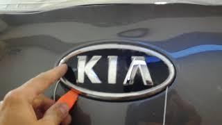 Как снять эмблему KIA Sportage