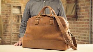 The Stateroom Weekender | Full-Grain Leather Weekend Bag