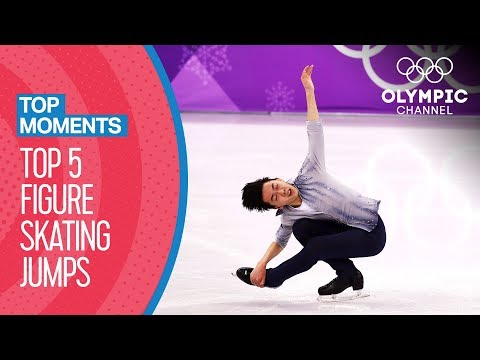 Top 5 Figure Skating Jumps at Olympic Winter Games | Top Moments