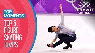Top History-Making Figure Skating Jumps at the Olympics | Top Moments