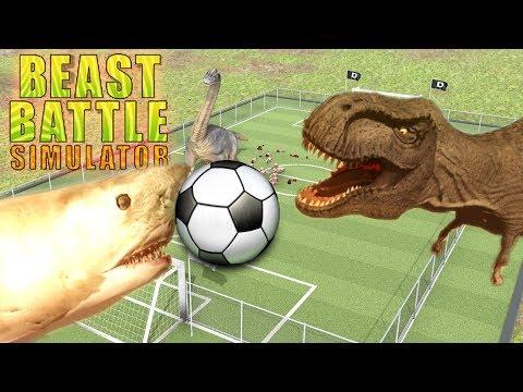 DINOSAUR SOCCER! | Beast Battle Simulator Gameplay PART 2