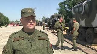 2021-08-11 г. Брест.  Отправка техники 111 бригады на учения «Запад-2021». Новости на Буг-ТВ. #бугтв