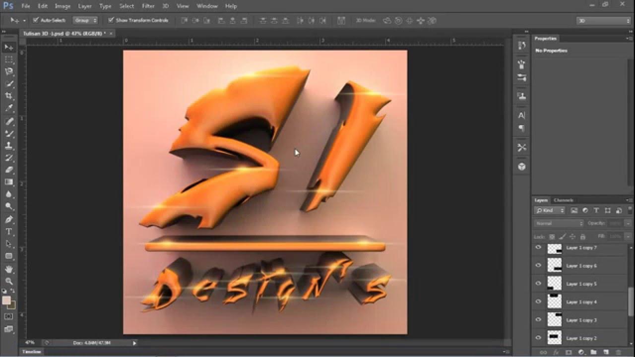 Paling Baru Cara Membuat Gambar 3d Di Photoshop Cs6 Anna K Cummings