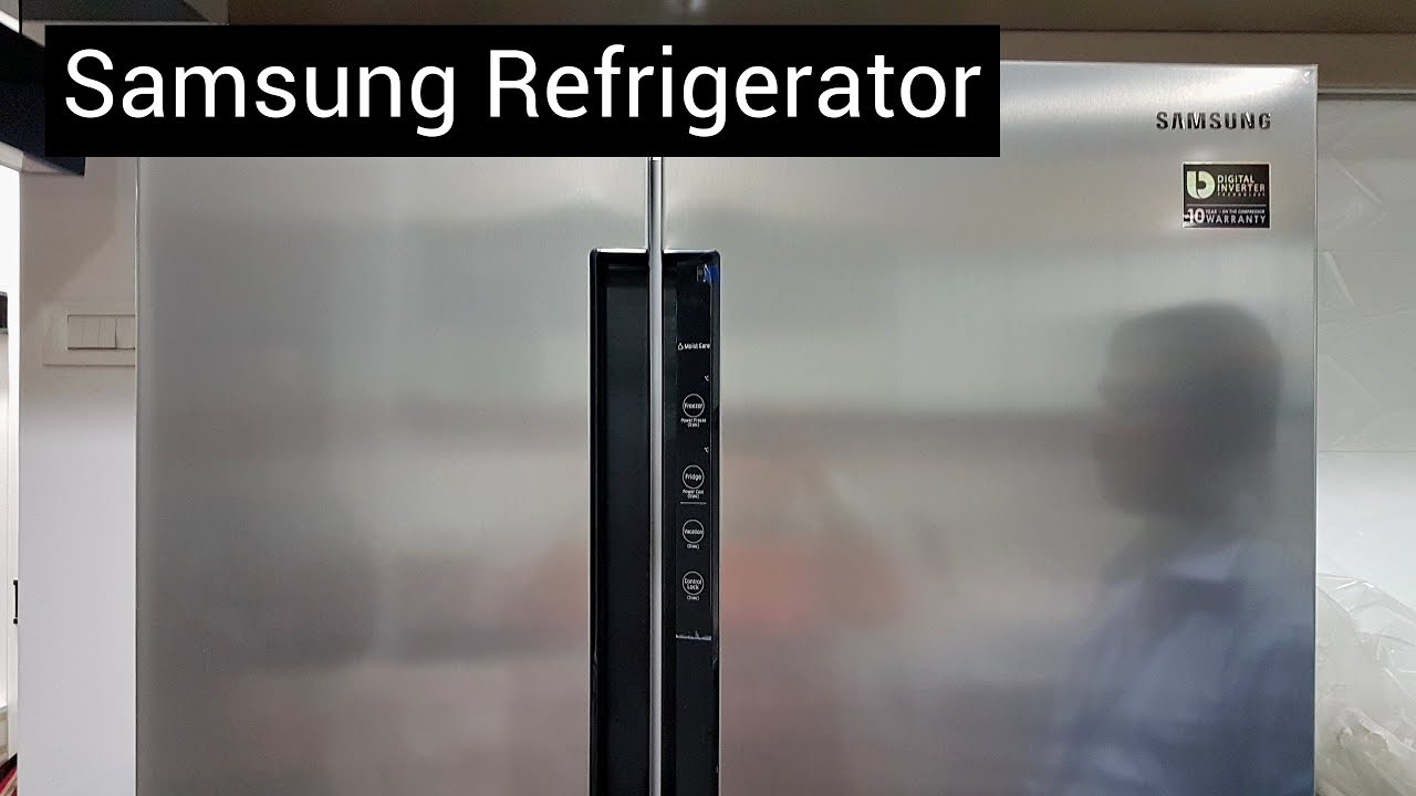 Unboxing Of Samsung Rs62k60a7sl Side By Side Refrigerator Youtube