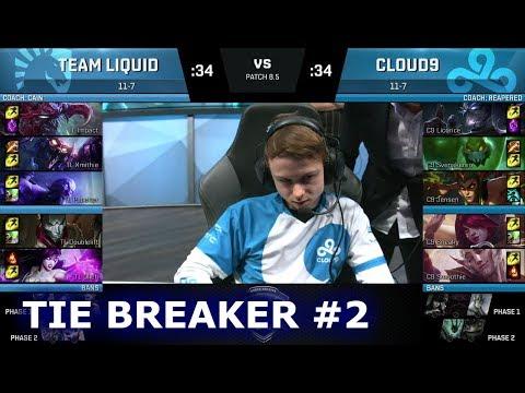 Team Liquid vs Cloud 9 - Tie Breaker #2 | S8 NA LCS Spring 2018 | TL vs C9 W9D2 Tie