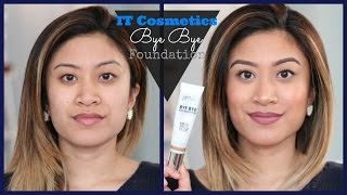 IT Cosmetics Bye Bye Foundation FULL First Impression Review | K1tCatSayz