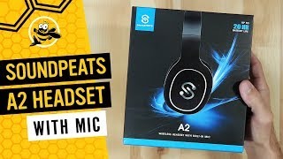 SoundPEATS A2 Wireless Headset Over the Ear Headphones with Mic