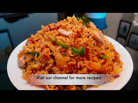 Onion Rice - Onion Fried Rice Recipe - Easy Indian Rice Varieties For Lunch - Moms Tasty Food