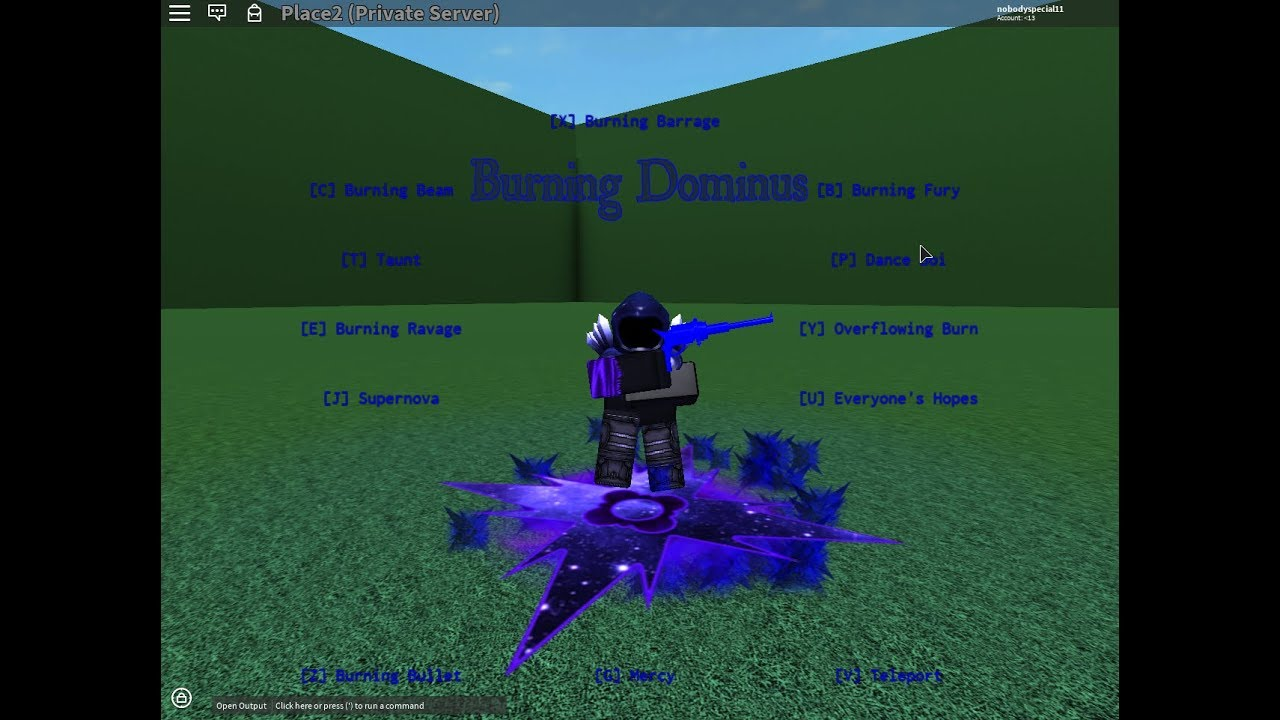 ROBLOX script showcase: #19 Burning Dominus [FE] [UNLEAK] [50 SUB SPECIAL]