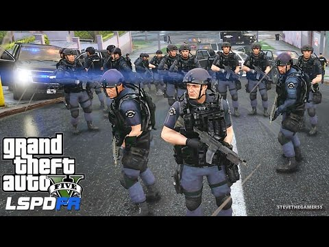 LSPDFR #434 - SWAT W/ RIOT SHIELDS! SWAT POLICE PATROL!! (GTA 5 REAL LIFE POLICE MOD)