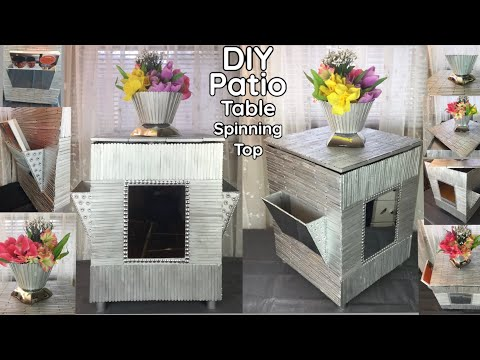 dollar-tree-diy-/-manualidades-/-craft-sticks-/-patio-table-/-storage-/-mirrors-decor-2020-#withme