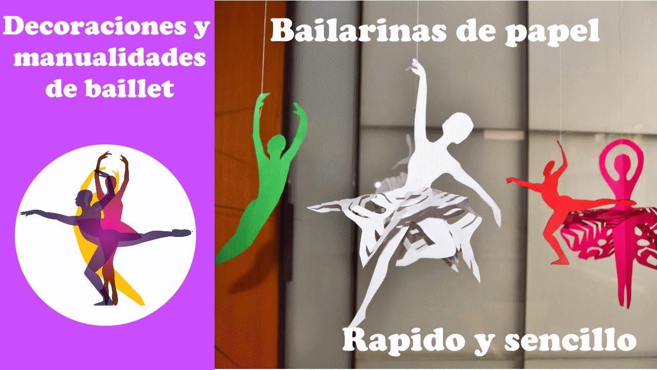 02ba4c4bf Bailarines de papel con tutú de copos de nieve. Decoraciones para tus  fiestas. - YouTube