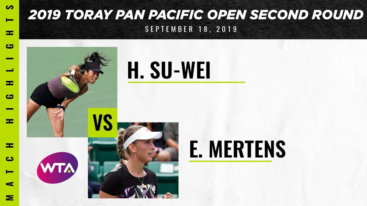 Hsieh Su-Wei vs. Elise Mertens | 2019 Osaka Second Round | WTA Highlights
