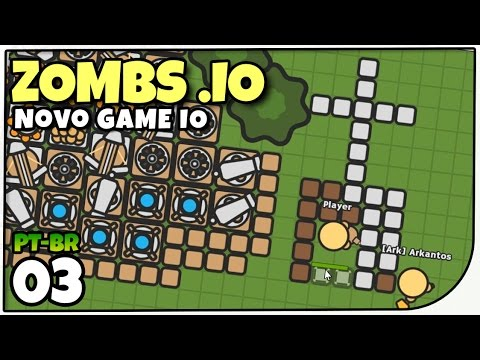 Zombs.io - Templo do Player e Nova Base! Gameplay em Português - Novo Game .io [PT-BR]