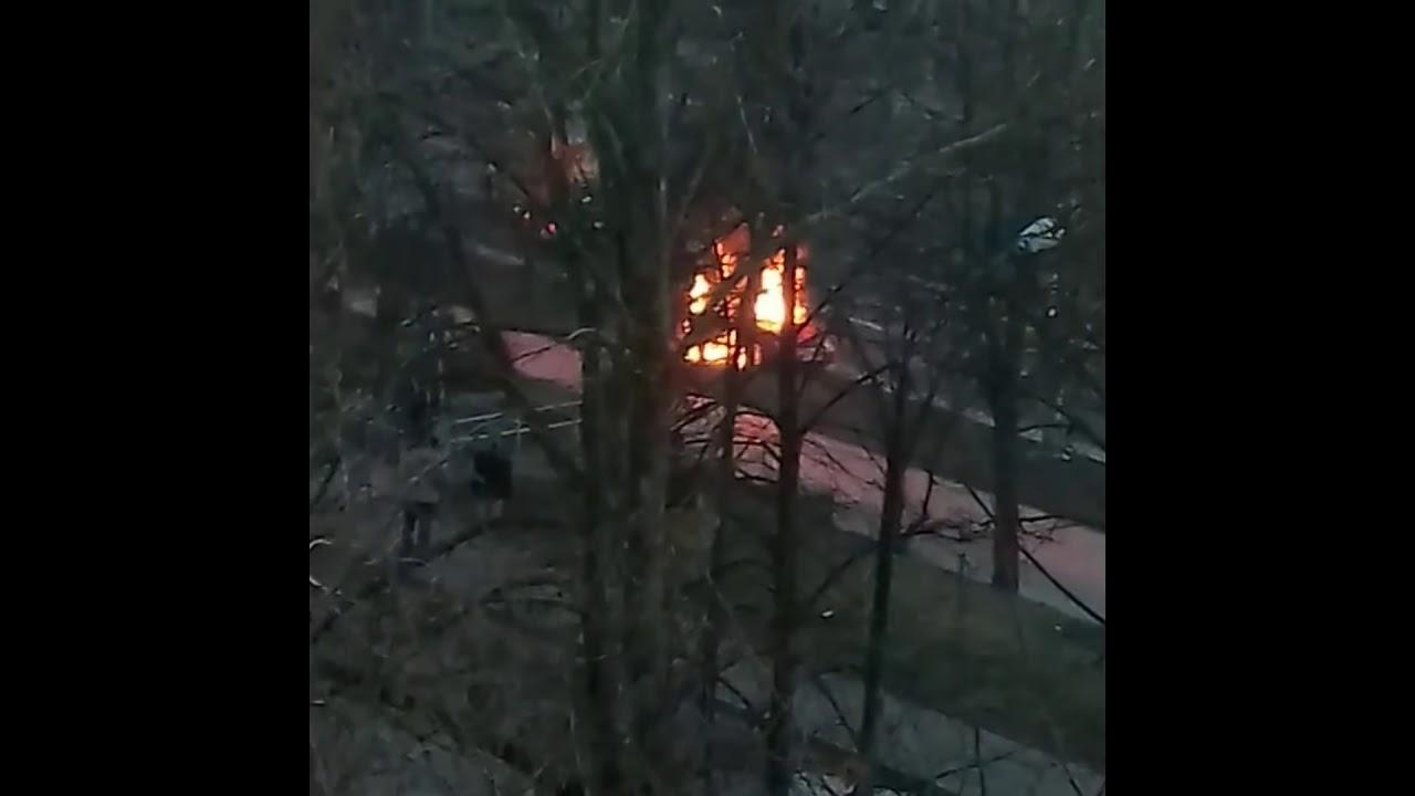 Pożar audi na al. Andersa w Lublinie. 08.01.2018