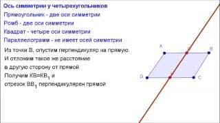 Геометрия 8 класс. Ось симметрии четырехугольников