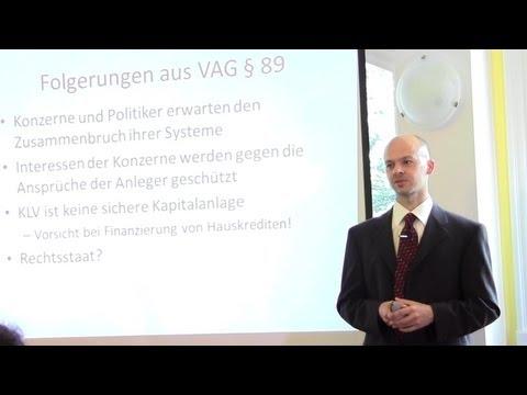 Rico Albrecht - Kapitalvernichtende Lebensversicherung Vortrag (August 2011)