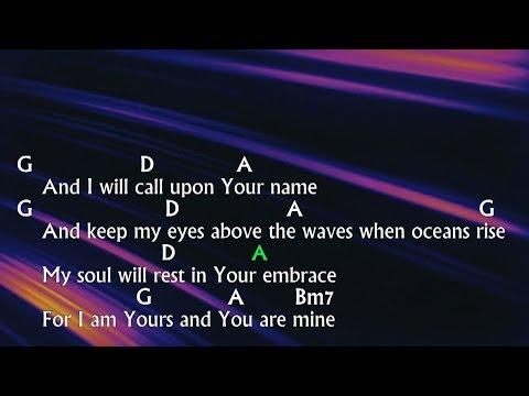 """Oceans (Where Feet May Fail)"" - Hillsong United [Letra & Cifra]"