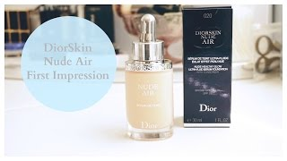NEW DiorSkin Nude Air Foundation First Impression and Review, Dior, Foundation, beauty, makeup,